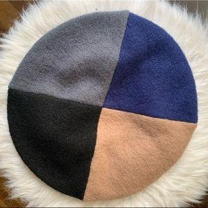 Multicolored beret